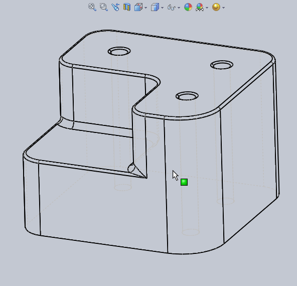How to display 3D Model with Wireframe via profile and